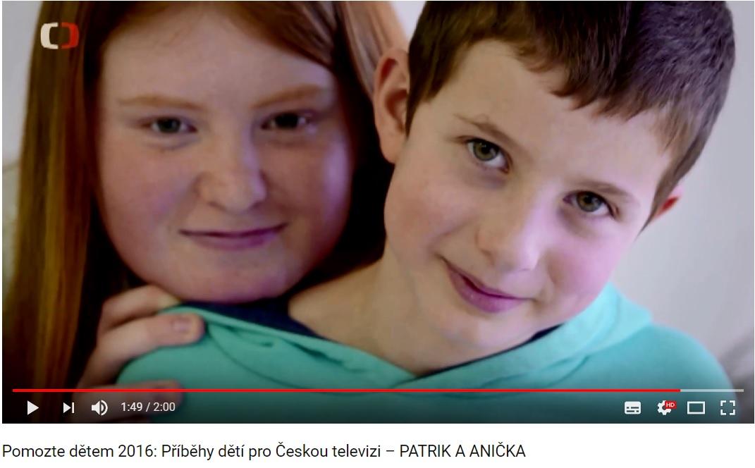 PŘÍBĚHY DĚTÍ PRO ČT 2016: ANIČKA A PATRIK