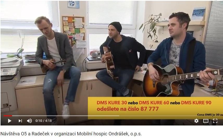 Návštěva O5 a Radeček v organizaci Mobilní hospic Ondrášek, o.p.s.