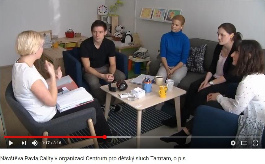 Návštěva Pavla Callty v organizaci Centrum pro dětský sluch Tamtam, o.p.s.